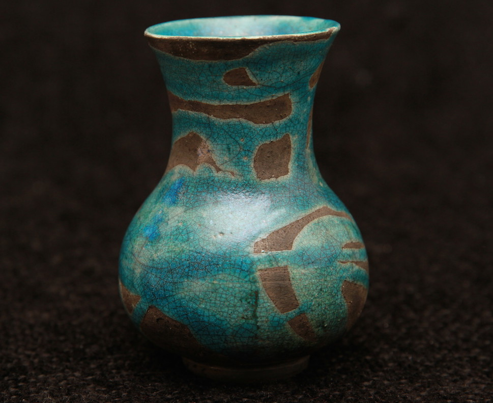 #13 Turquoise Flared Top Bottle